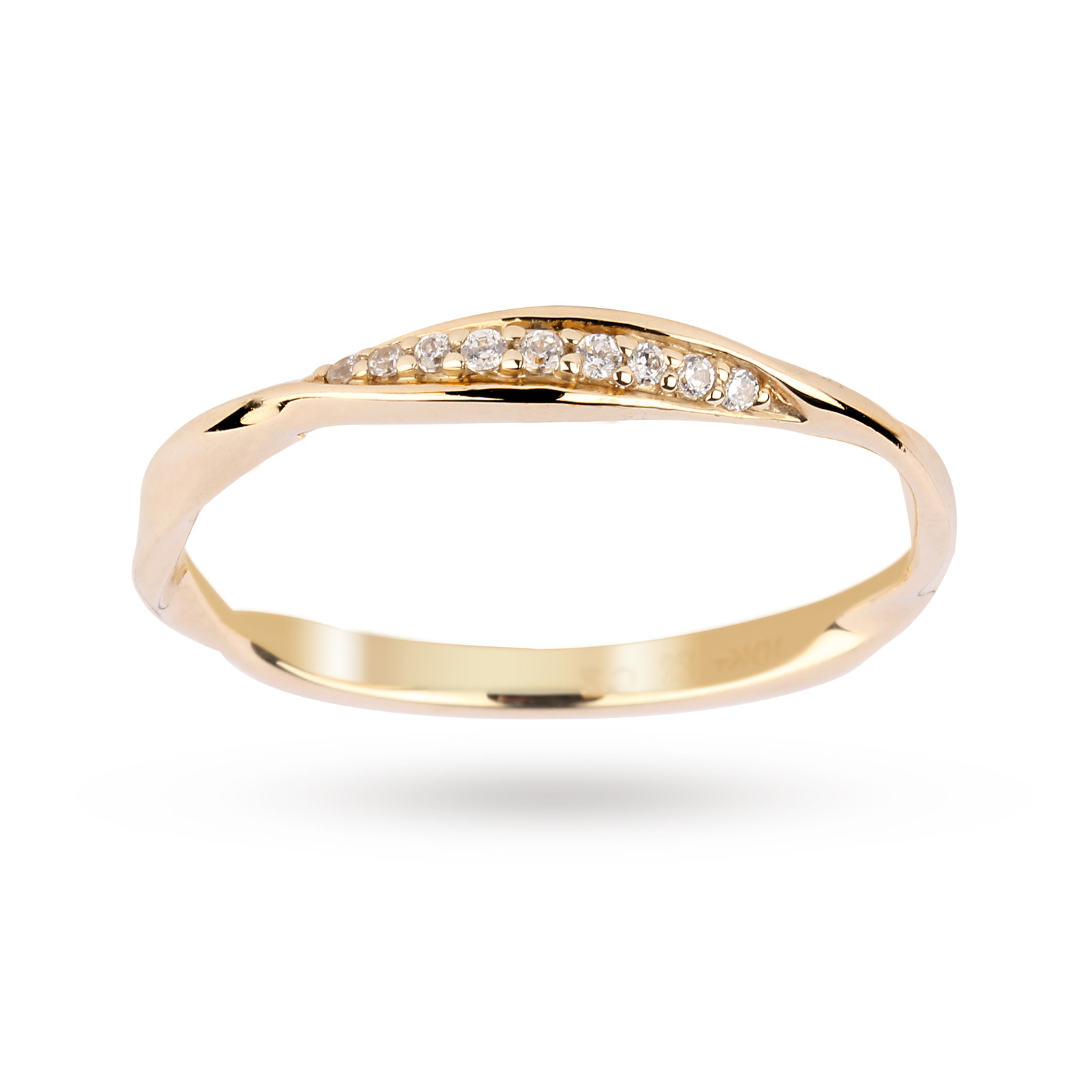 Brilliant Cut Diamond Ring in 9 Carat Yellow Gold
