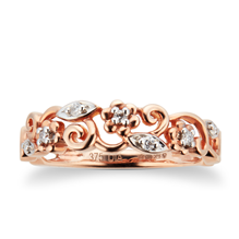 Brilliant Cut Diamond Ring in 9 Carat Rose Gold