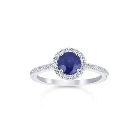 Carrington 18ct White Gold 1.00ct Sapphire and 0.30cttw Diamond Ring