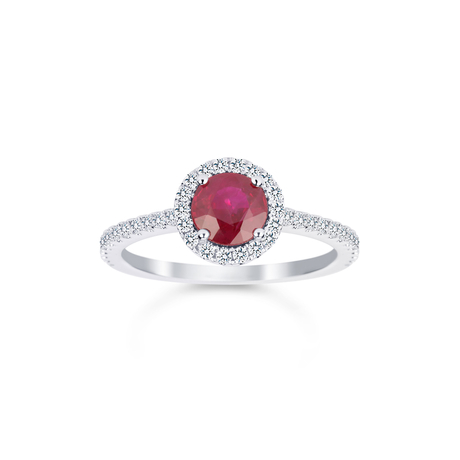 Carrington 18ct White Gold 1.00ct Ruby and 0.30cttw Diamond Ring