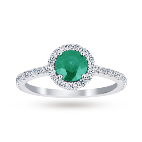 Carrington Emerald Ring in 18ct White Gold