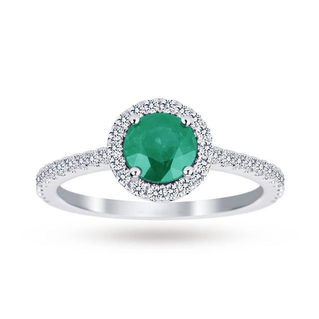 Emerald and Diamond Ring - Ring Size M
