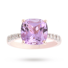 Rose Gold Vermeil Amethyst And White Topaz Ring