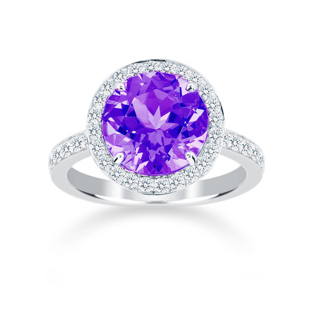 Carrington 18ct White Gold 3.00ct Amethyst and 0.45cttw Diamond Ring