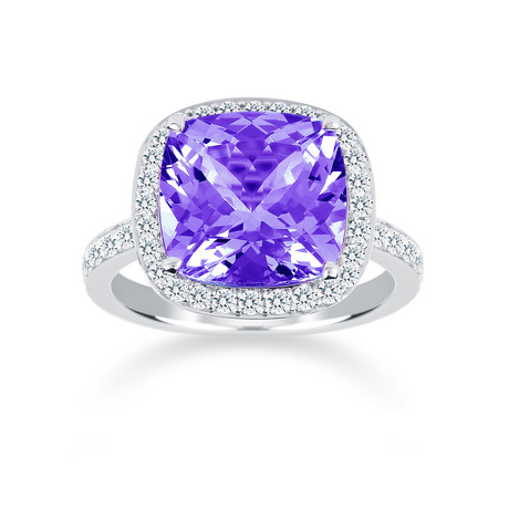 Carrington 18ct White Gold 6.00ct Amethyst and 0.60cttw Diamond Ring