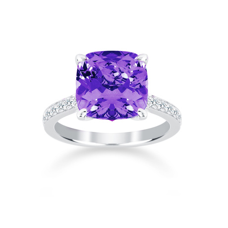 Carrington 18ct White Gold 3.40ct Amethyst and 0.25cttw Diamond Ring