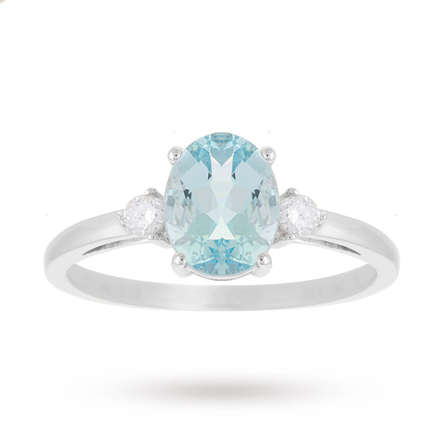 buy cheap aquamarine ring compare s jewellery