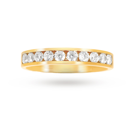 For Her - 0.50 Total Carat Weight Brilliant Cut Diamond Eternity Ring In 9 Carat Yellow Gold - M06501491