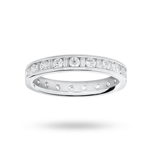 Silver Dot Dash Channel Set Cubic Zirconia Full Dress Ring