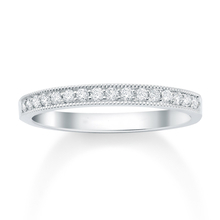 Platinum 0.48 Carat Grain Set Diamond Half Eternity Ring