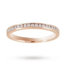 Brilliant Cut 0.15 Carat Total Weight Diamond Set Half Eternity Ring in 9 Carat White Gold