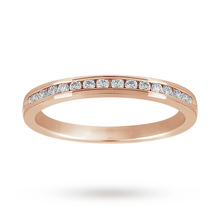 Brilliant Cut 0.20 Carat Total Weight Diamond Set Half Eternity Ring in 9 Carat White Gold