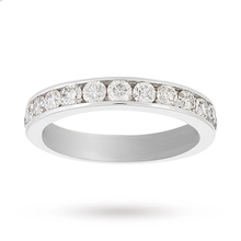18 Carat White Gold 1.00 Carat Eternity Ring