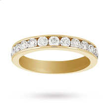 18 Carat Yellow Gold 1.00 Carat Eternity Ring