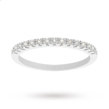 9 Carat White Gold Diamond Eternity Ring - Ring Size K
