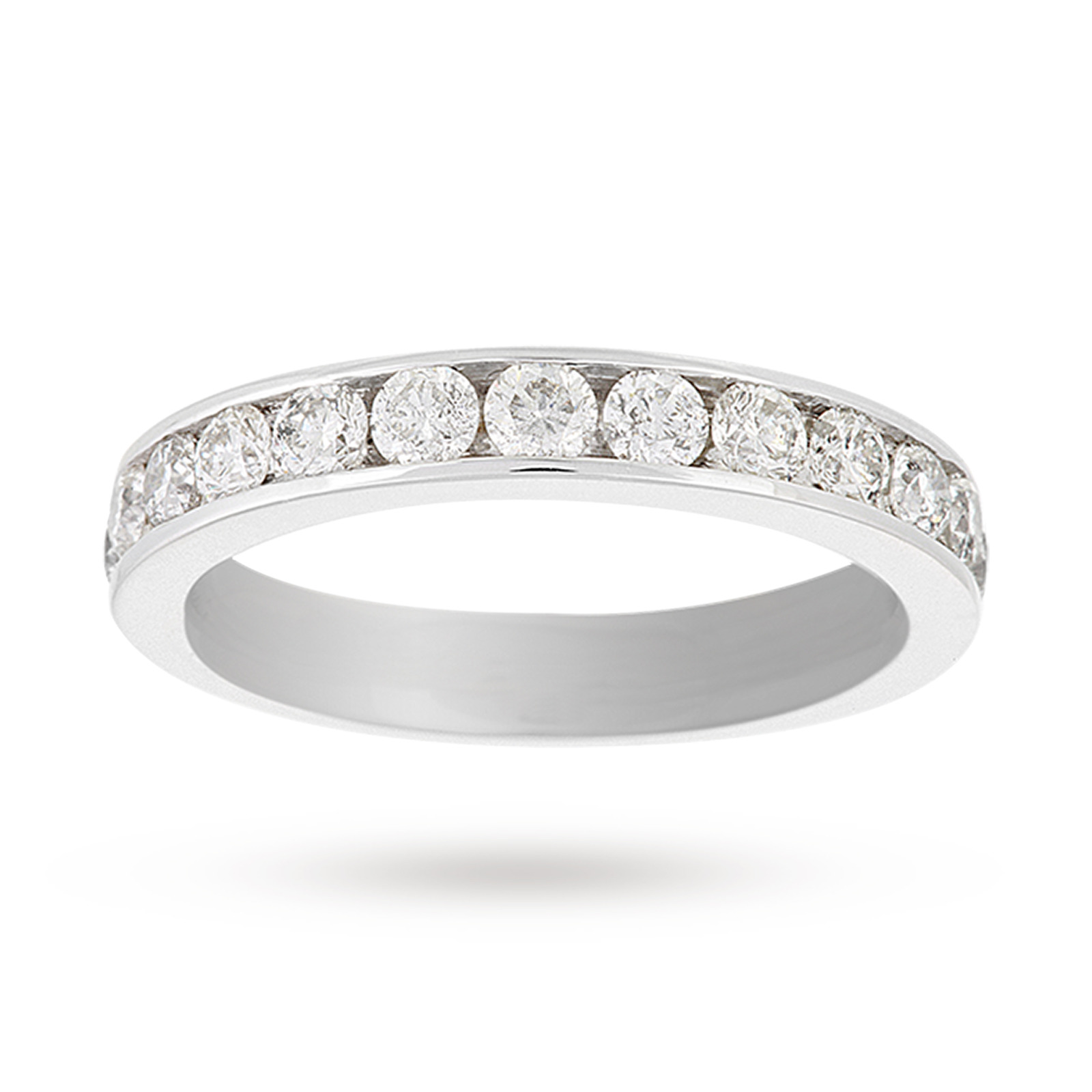 Platinum 1.00 Carat Eternity Ring - Ring Size K