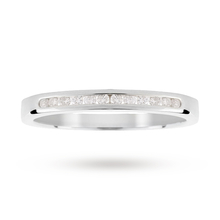 9ct White Gold 0.15ct Channel Set Diamond Ring
