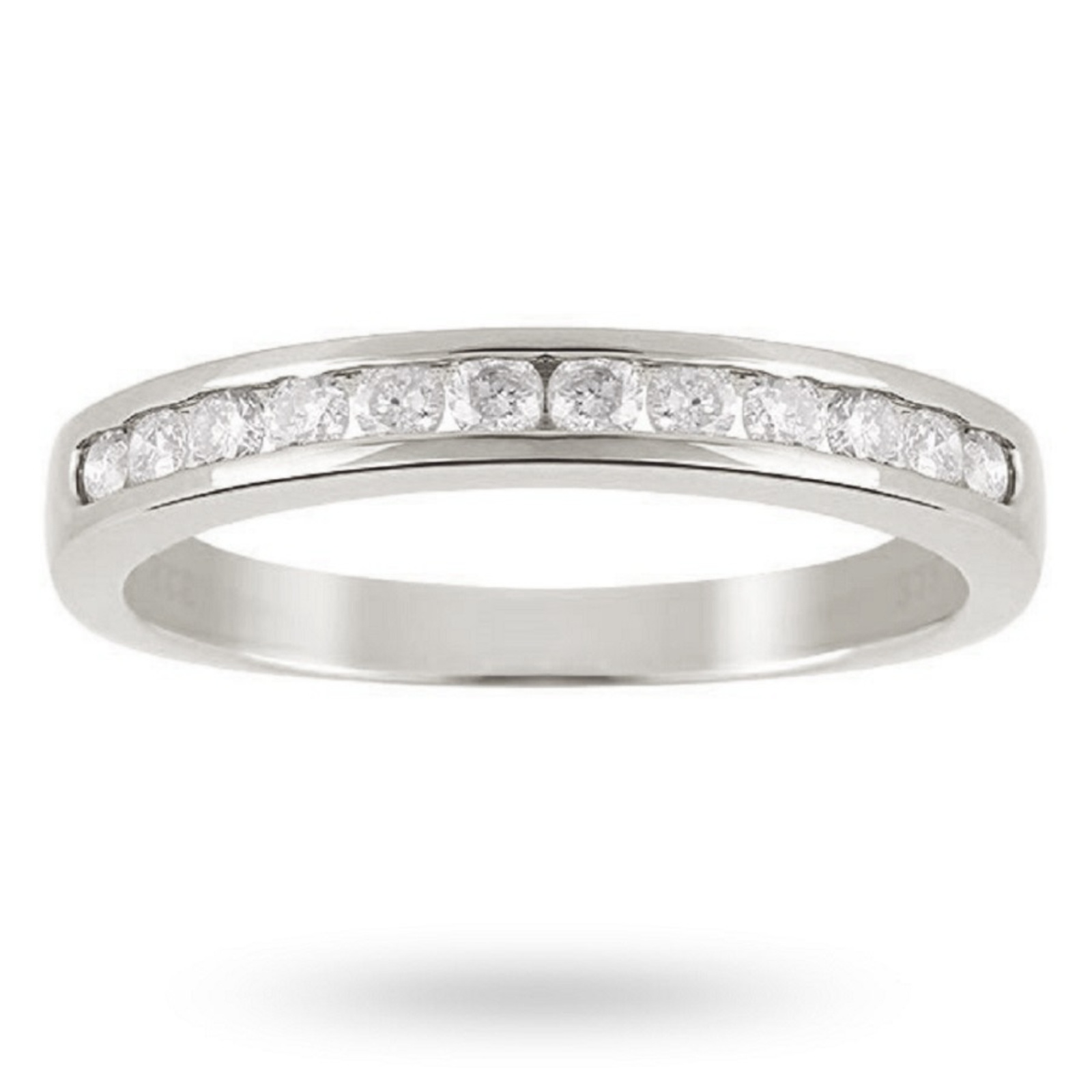 Brilliant Cut 0.25ct Channel Set Half Eternity Ring In 9ct White Gold