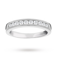 Brilliant Cut 0.33ct Channel Set Half Eternity Ring In 9ct White Gold