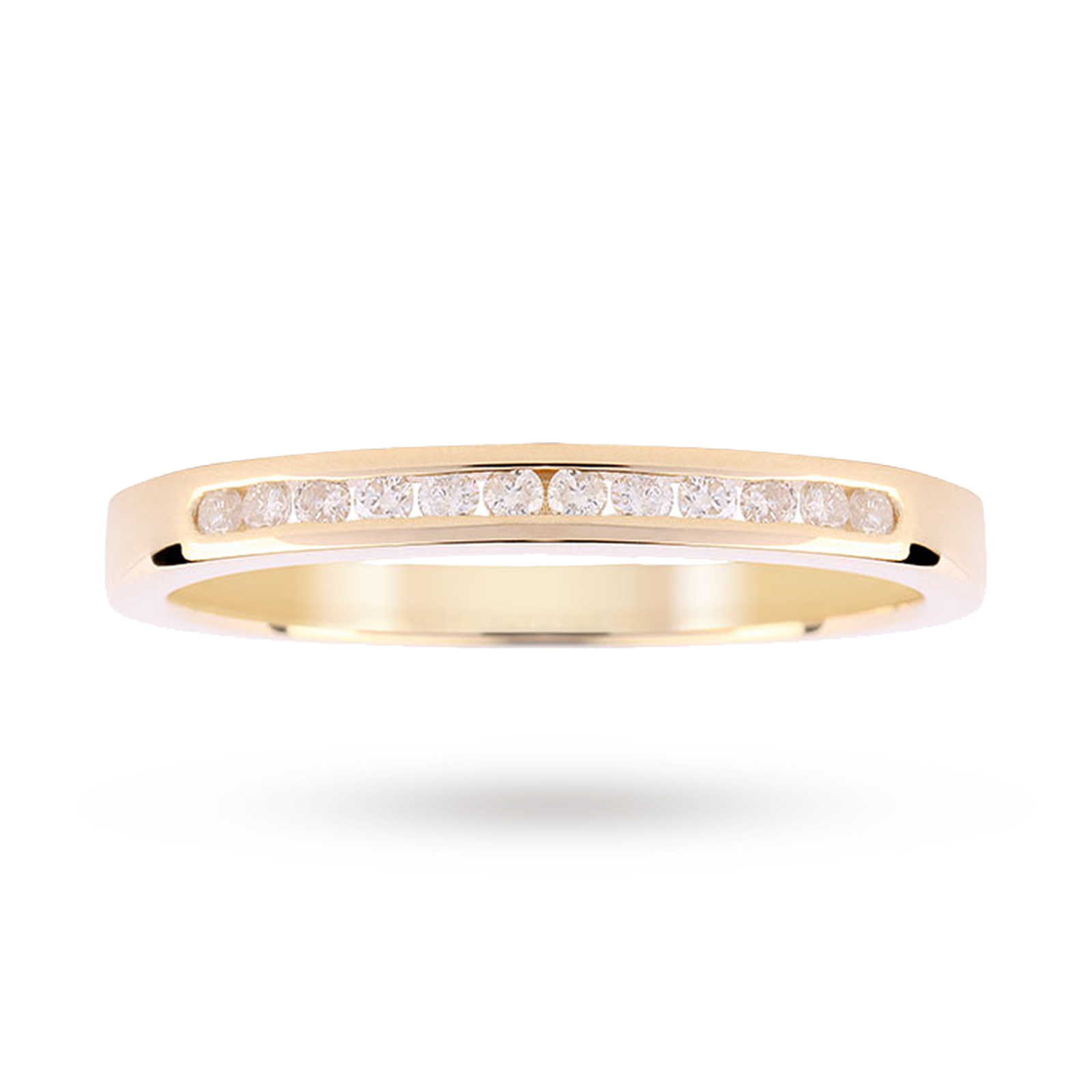 9ct Yellow Gold 0.15ct Diamond Channel Set Ring