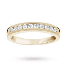 Brilliant Cut 0.33ct Channel Set Half Eternity Ring In 9ct Yellow Gold