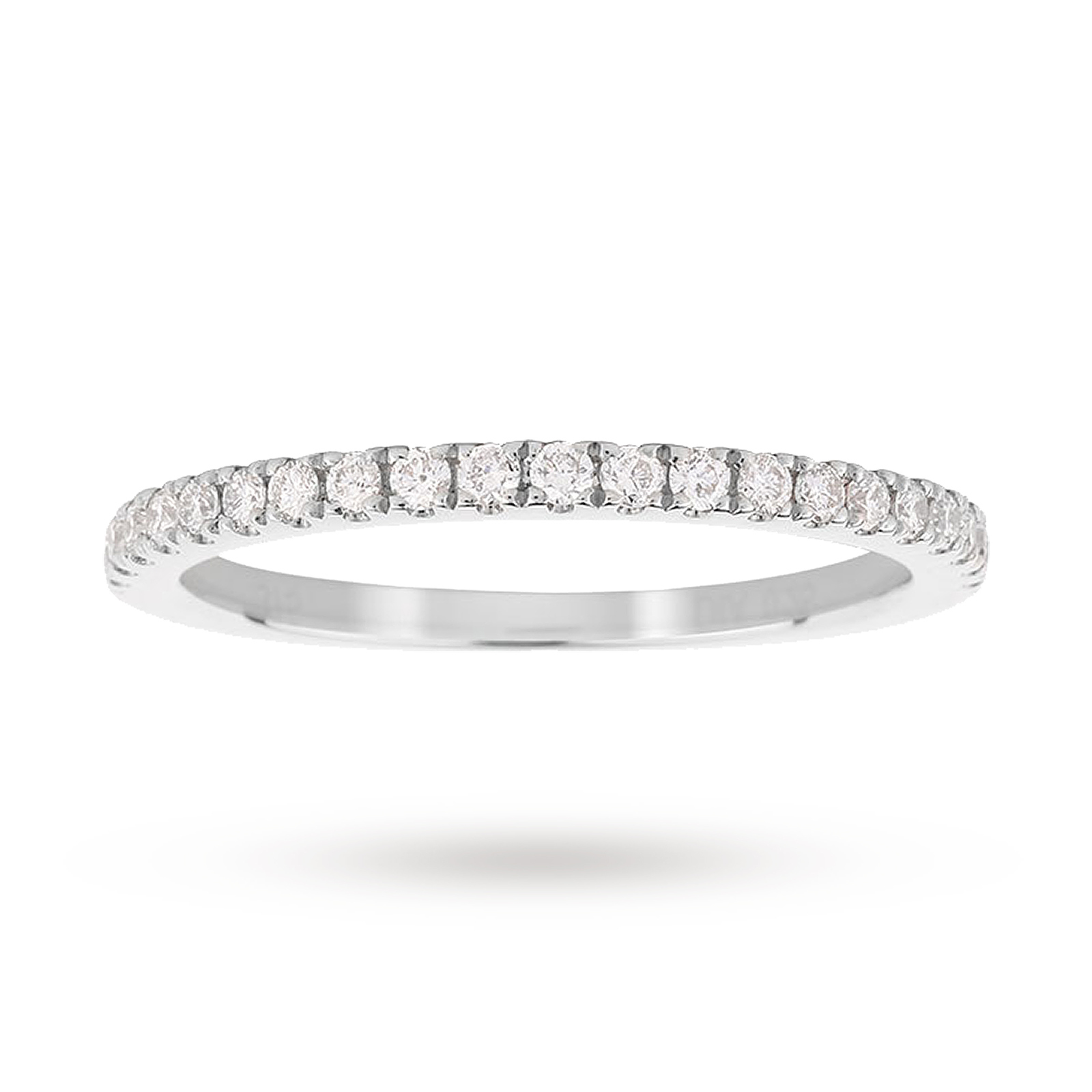 9ct White Gold Claw Set Skinny 0.25ct Diamond Ring