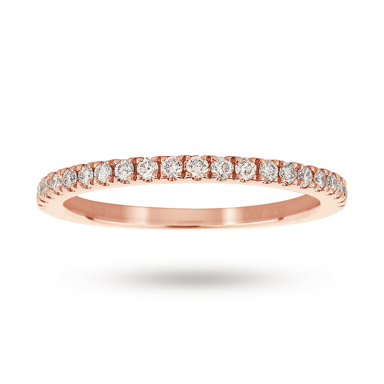9ct Rose Gold Claw Set Skinny 0.25ct Diamond Ring