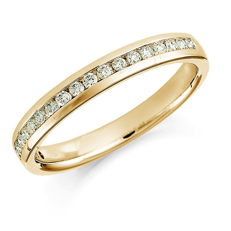 18ct Yellow Gold 0.30ct Round Brilliant Cut Channel Set Half Eternity Ring