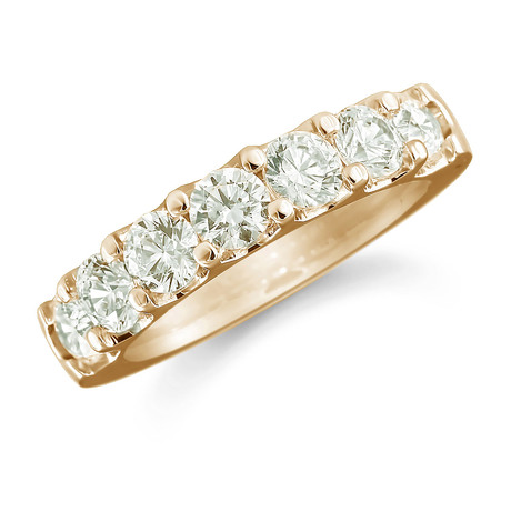 18ct Yellow Gold 0.77ct Claw Set Half Eternity Ring
