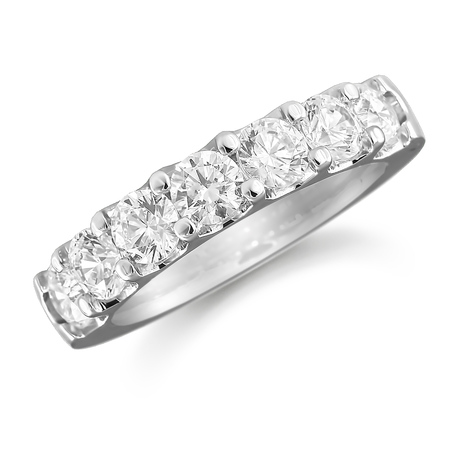 Platinum 0.77ct Claw Set Half Eternity Ring