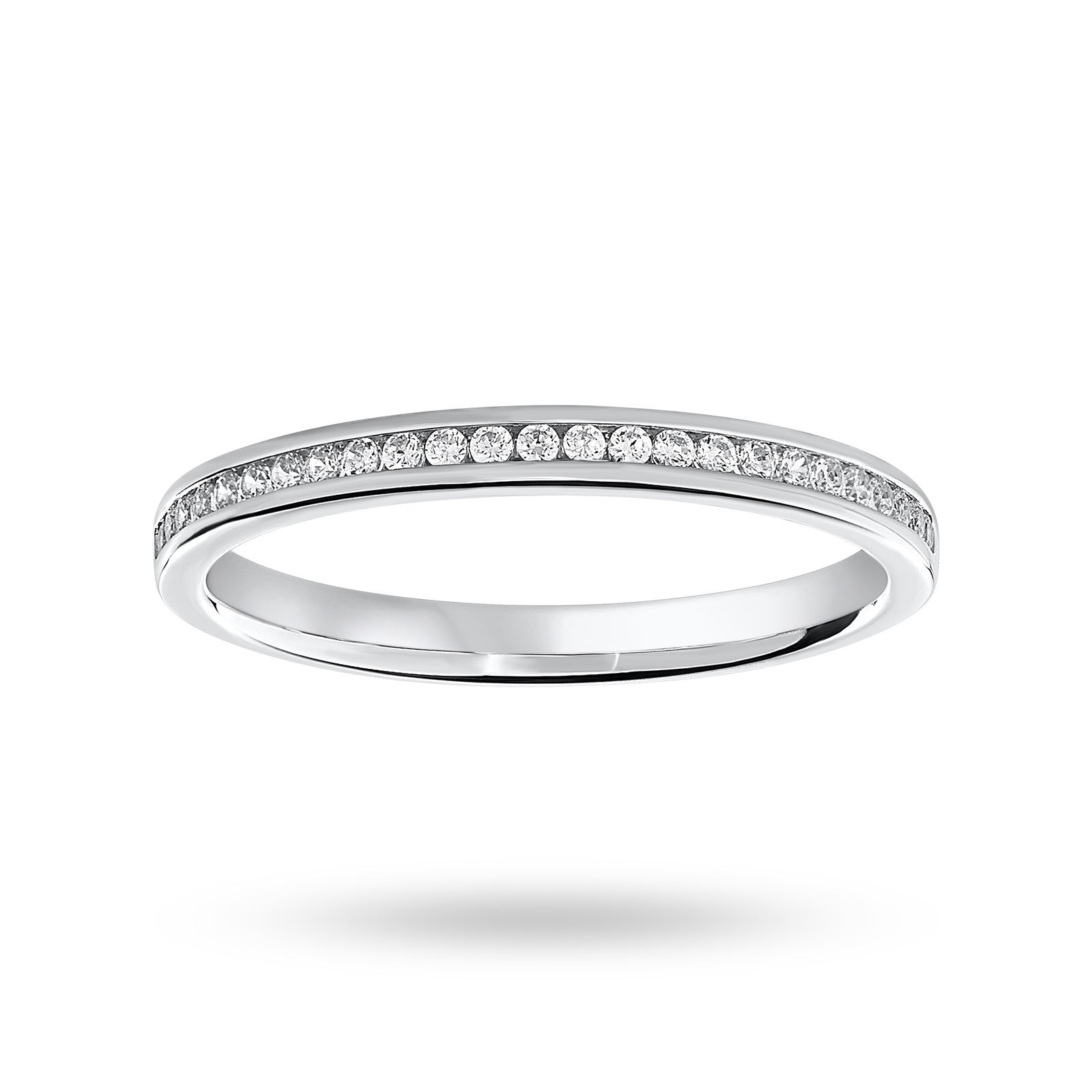 Platinum 0.12 Carat Brilliant Cut Half Eternity Ring