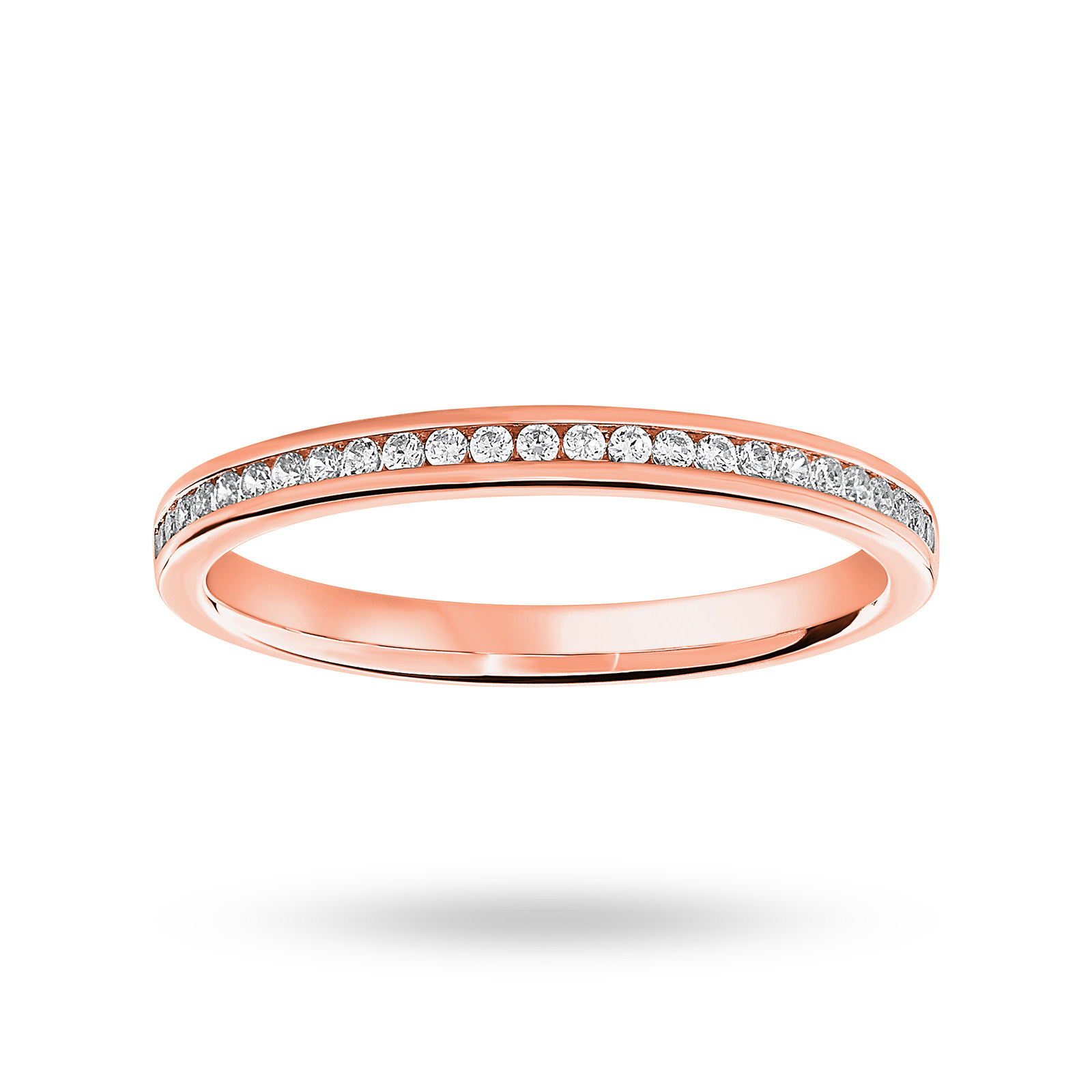 9ct Rose Gold 0.12cttw Diamond Half Eternity Ring