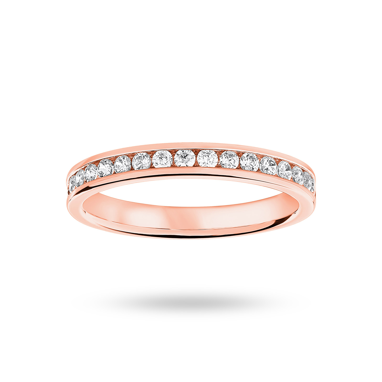 18 Carat Rose Gold 0.33 Carat Brilliant Cut Half Eternity Ring