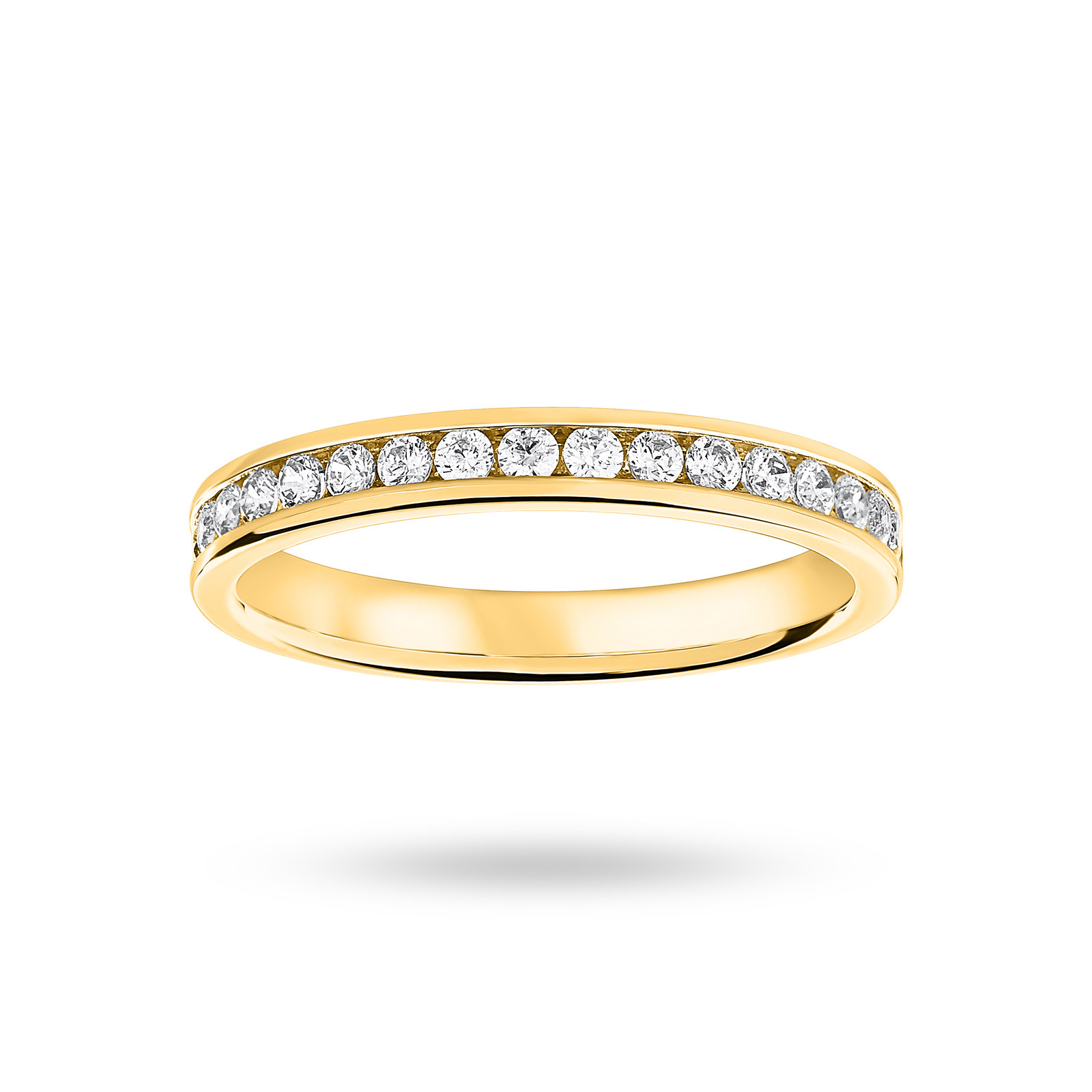 18 Carat Yellow Gold 0.33 Carat Brilliant Cut Half Eternity Ring