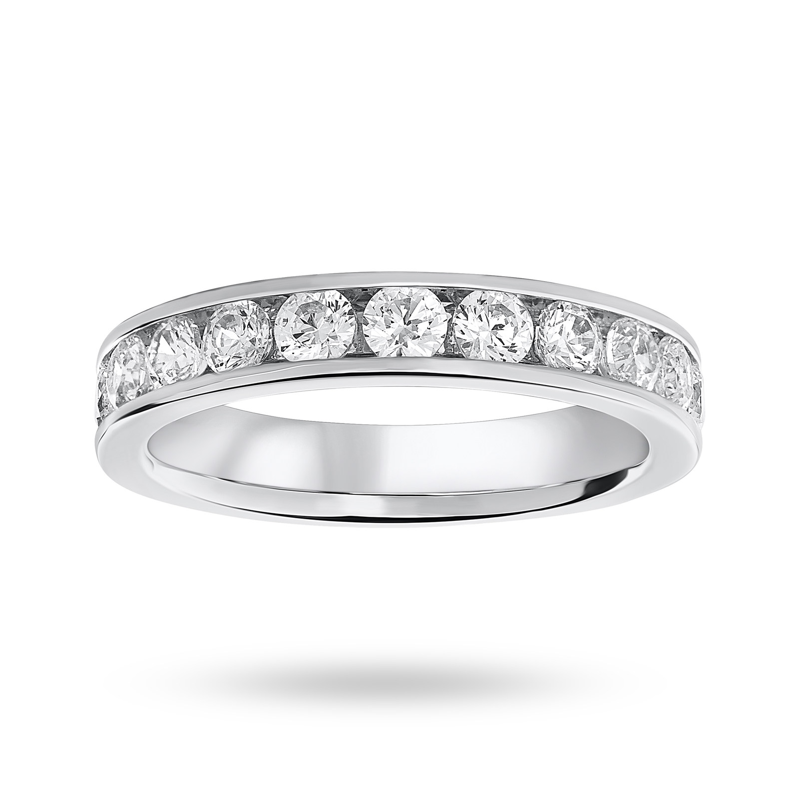 Platinum 1.00cttw Diamond Half Eternity Ring