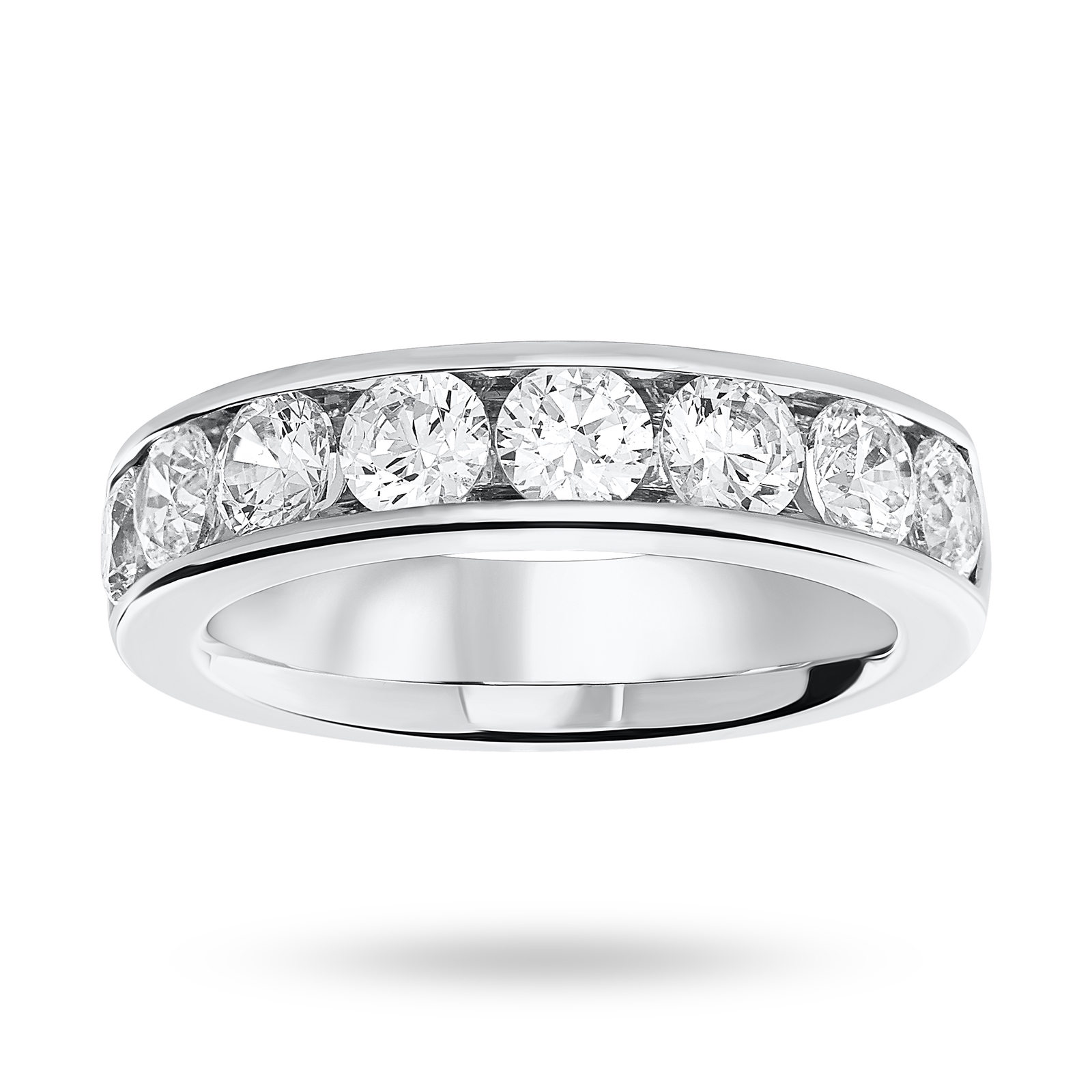 9 Carat White Gold 1.85 Carat Brilliant Cut Half Eternity Ring