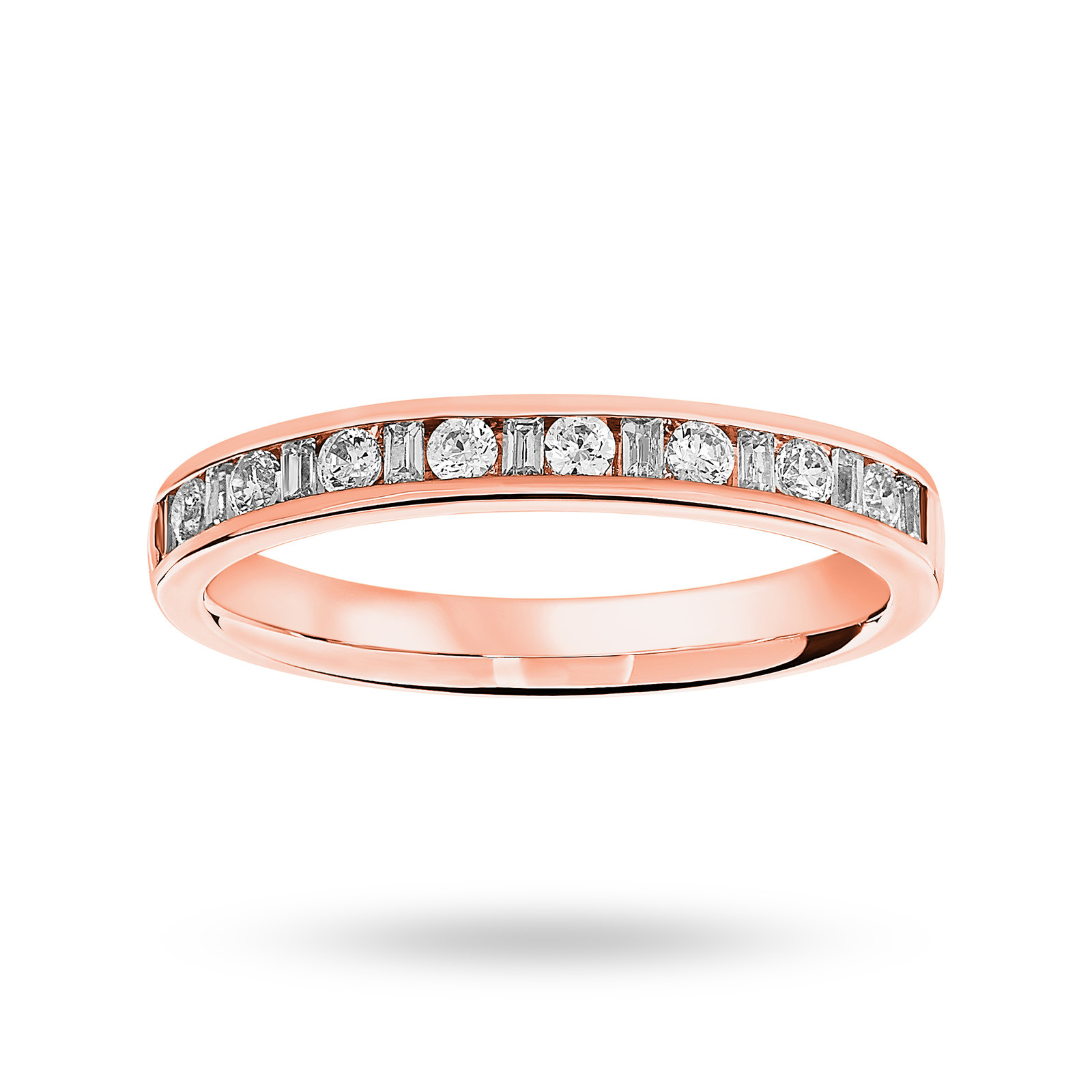 9 Carat Rose Gold 0.25 Carat Dot Dash Half Eternity Ring