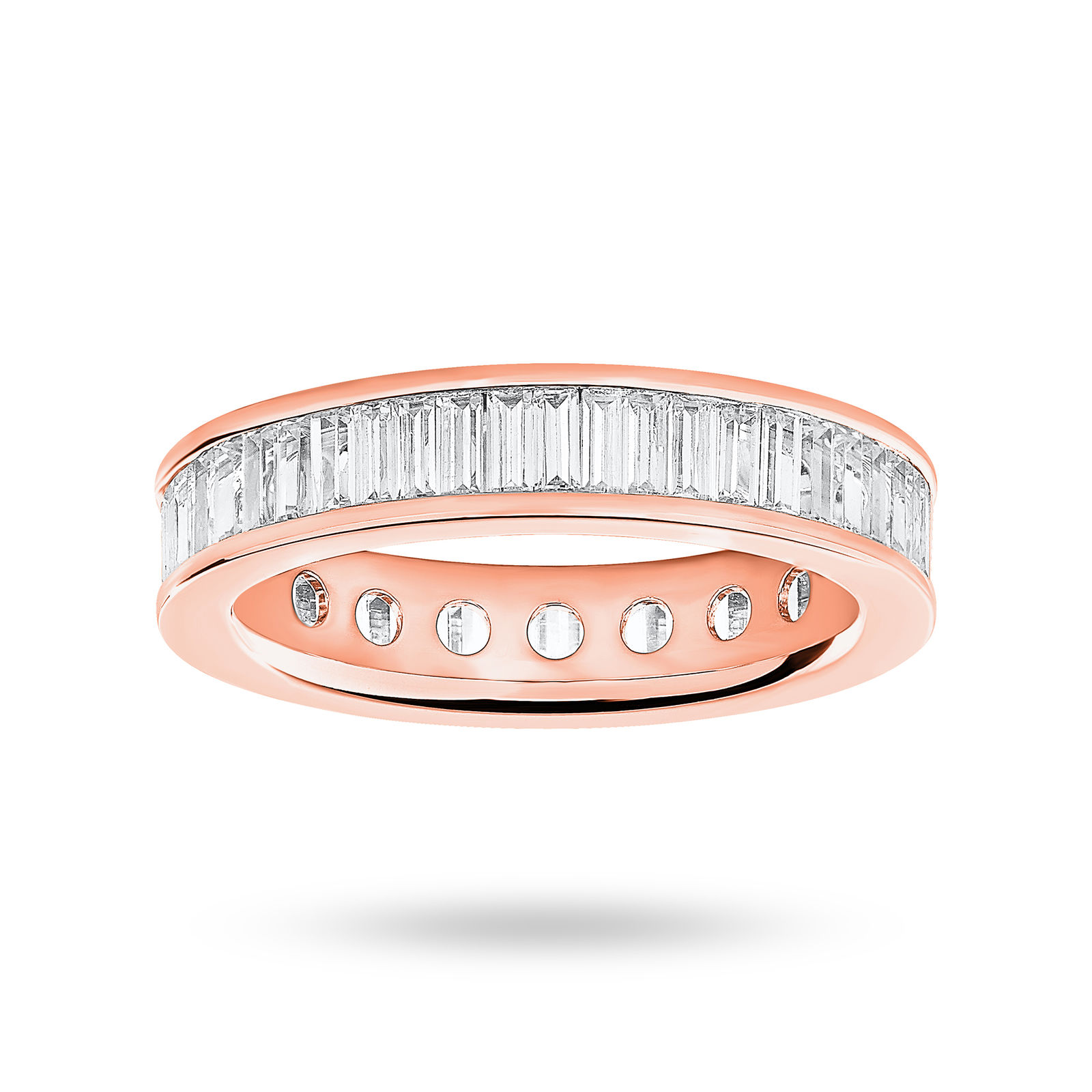 18 Carat Rose Gold 2.00 Carat Baguette Cut Full Eternity Ring