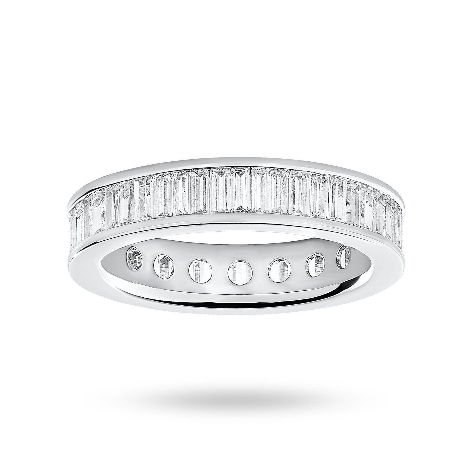 18ct White Gold 2.00cttw Baguette Cut Full Eternity Ring