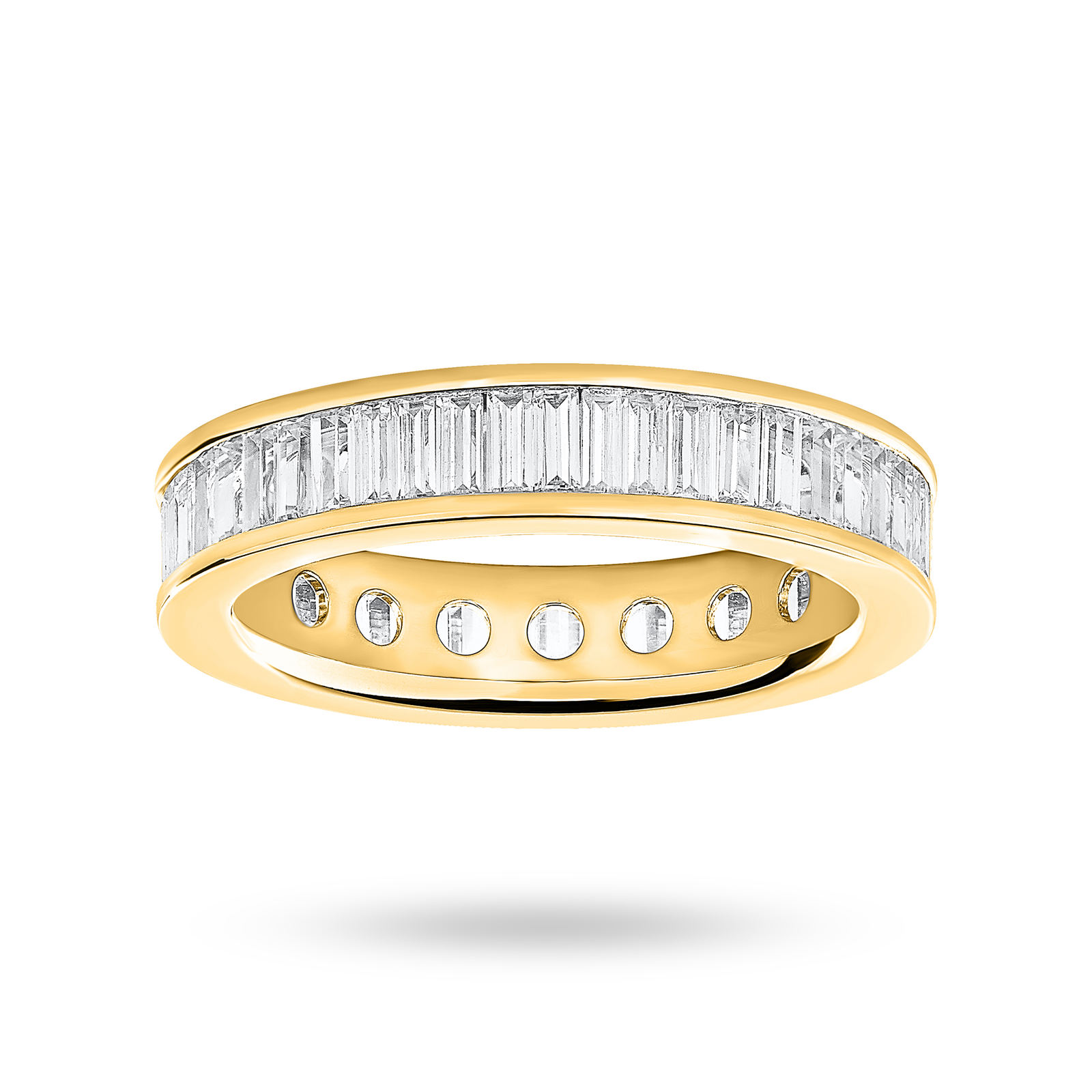 18 Carat Yellow Gold 2.00 Carat Baguette Cut Full Eternity Ring