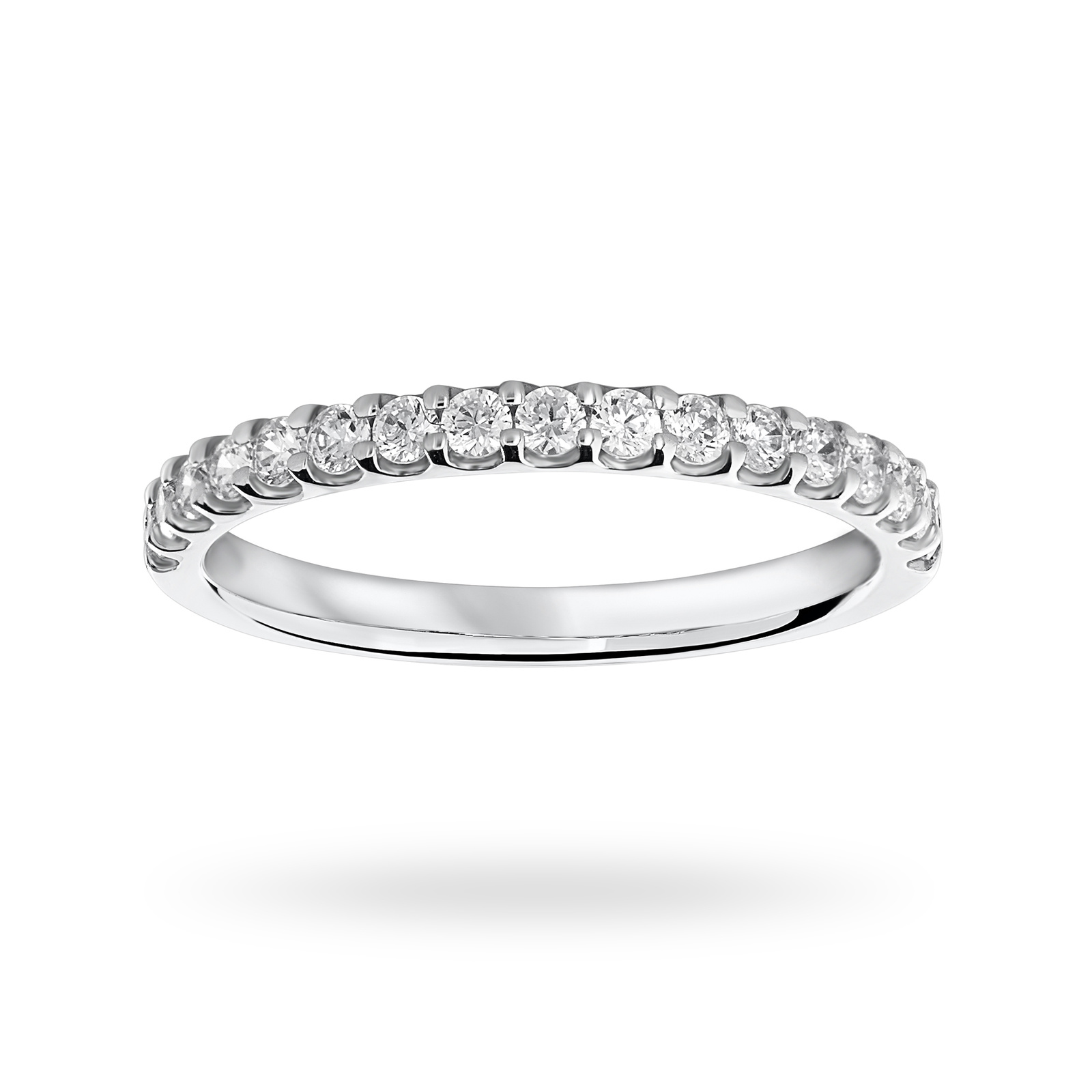 18 Carat White Gold 0.33 Carat Brilliant Cut Half Eternity