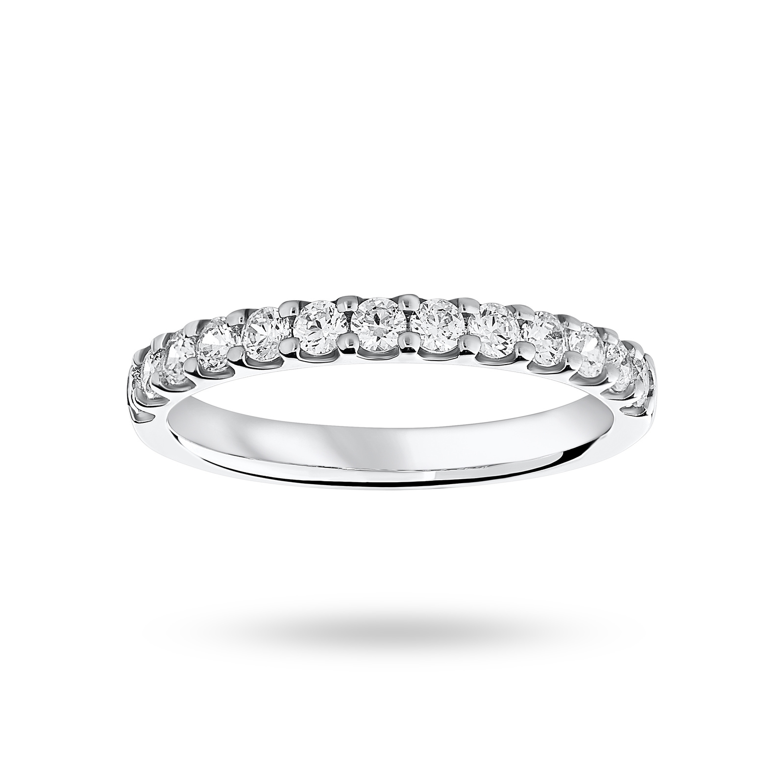 18 Carat White Gold 0.50 Carat Brilliant Cut Half Eternity