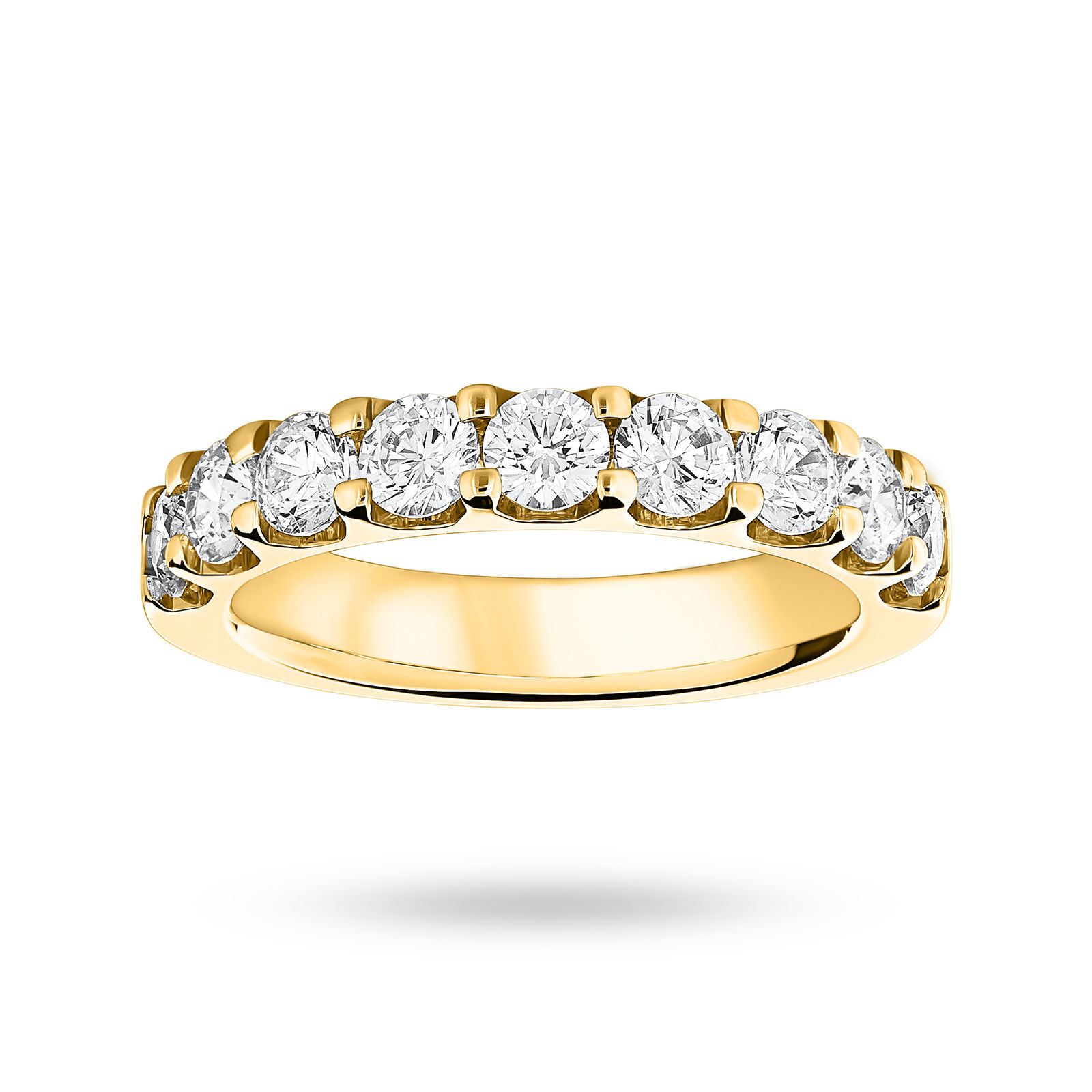 9 Carat Yellow Gold 1.45 Carat Brilliant Cut Half Eternity