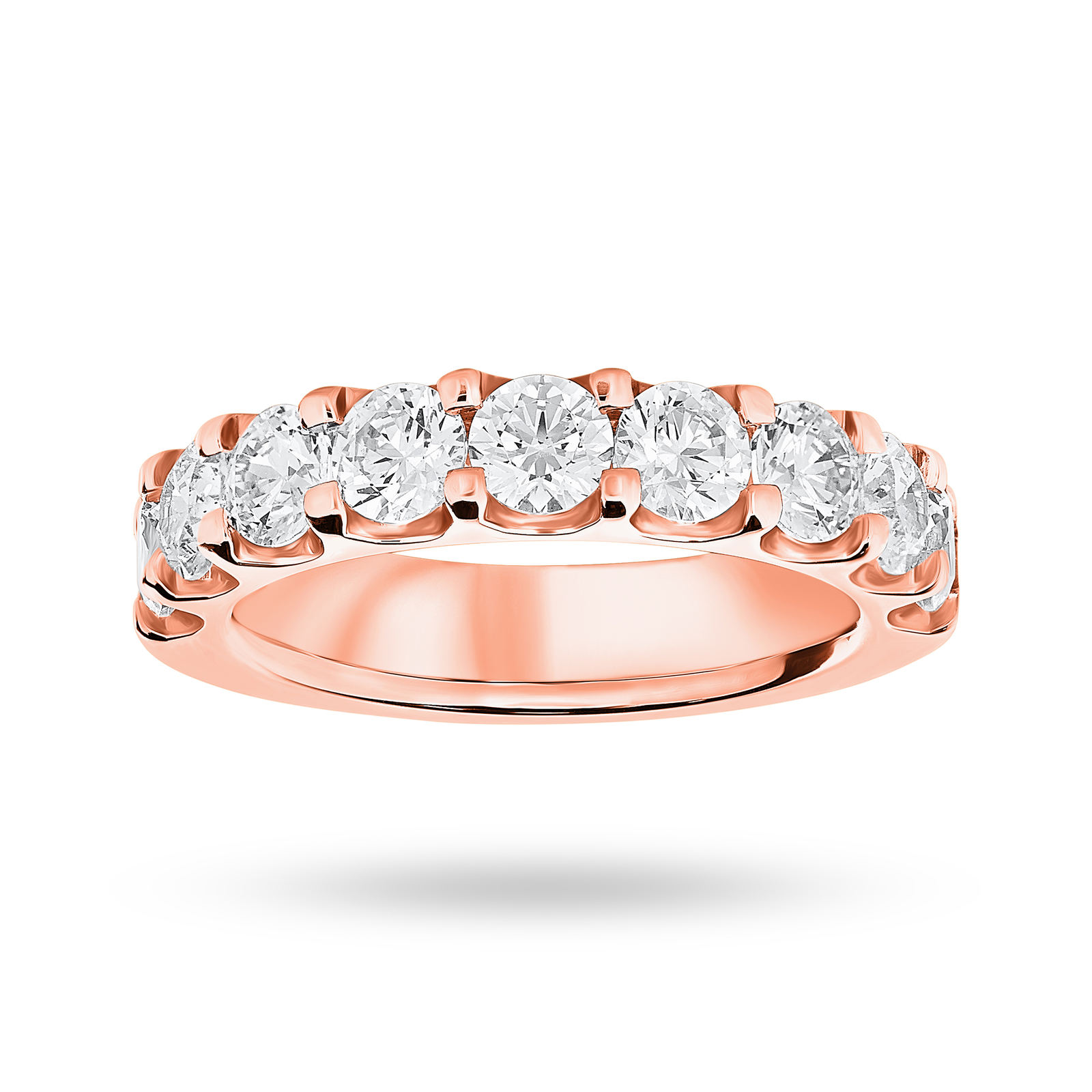 9 Carat Rose Gold 2.10 Carat Brilliant Cut Half Eternity