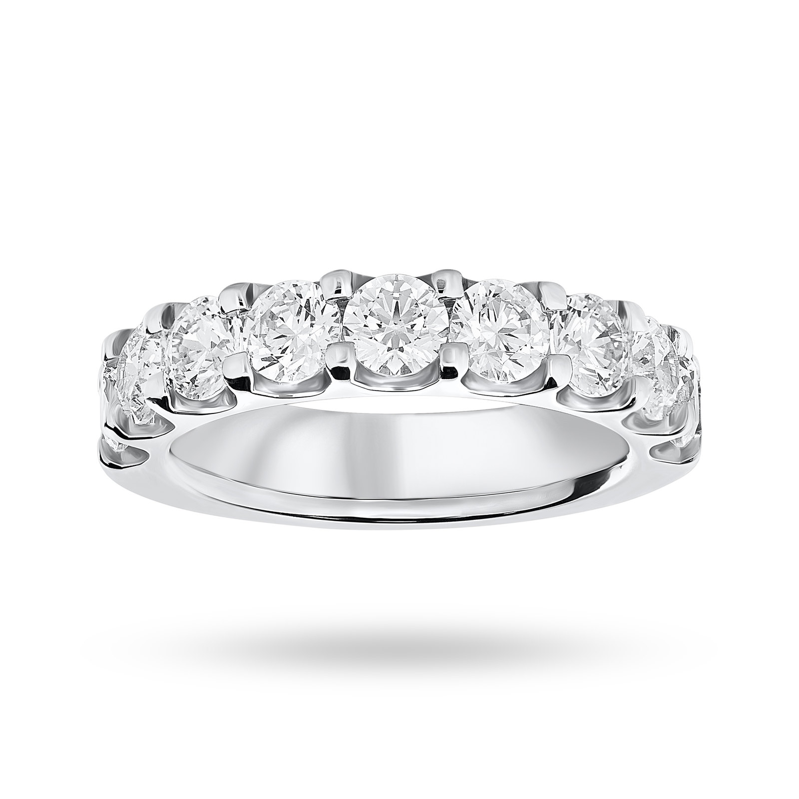 9 Carat White Gold 2.10 Carat Brilliant Cut Half Eternity