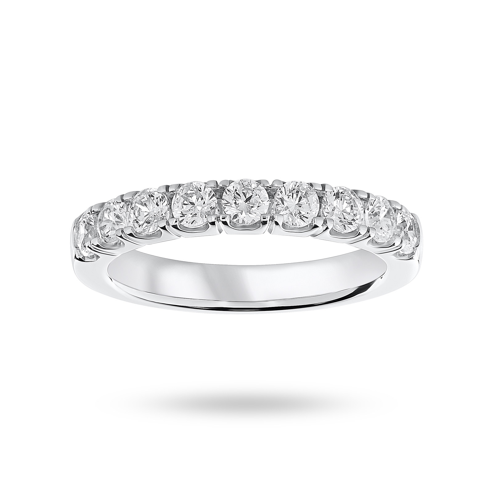 18 Carat White Gold 0.75 Carat Brilliant Cut Half Eternity
