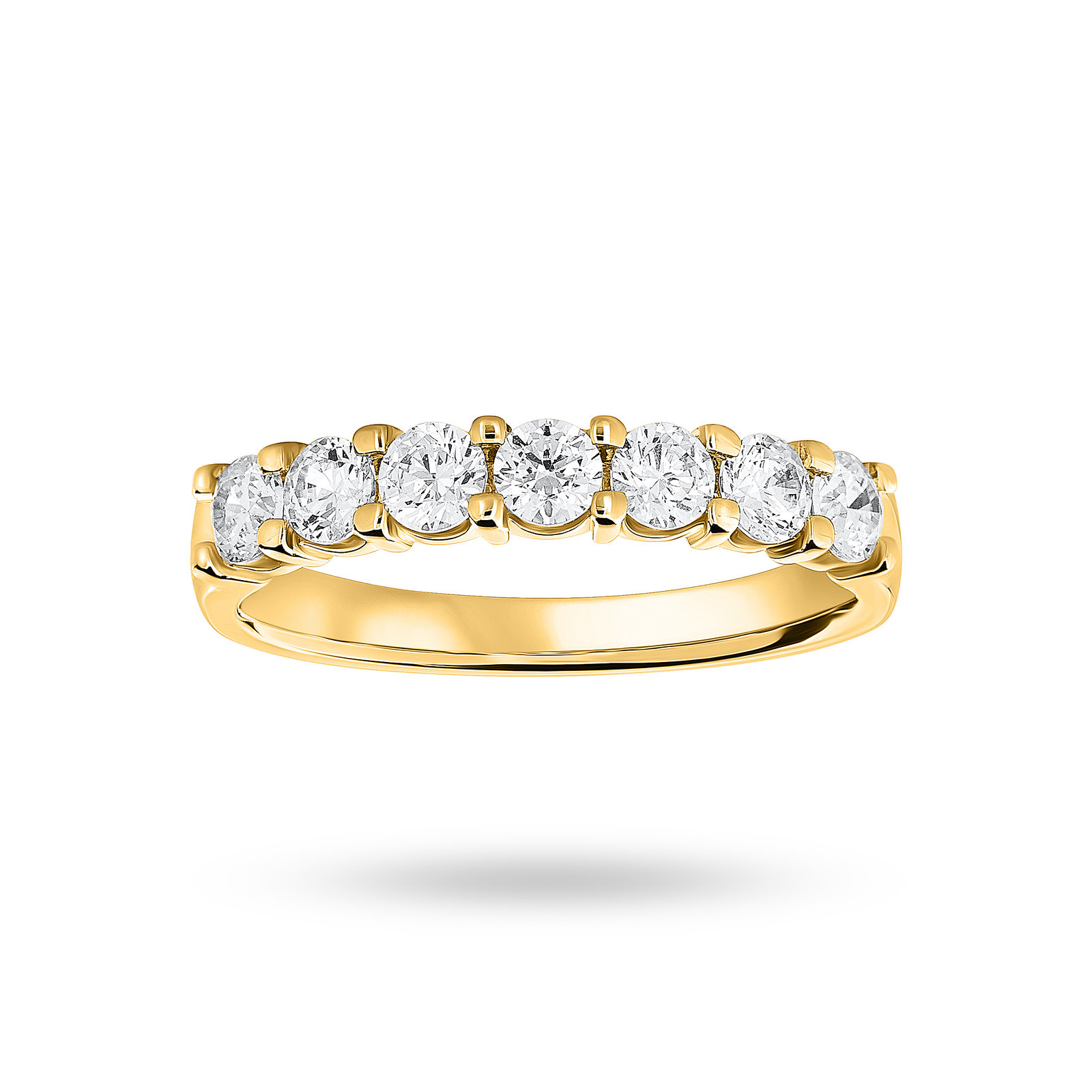 18ct Yellow Gold 0.75cttw Diamond Half Eternity Ring