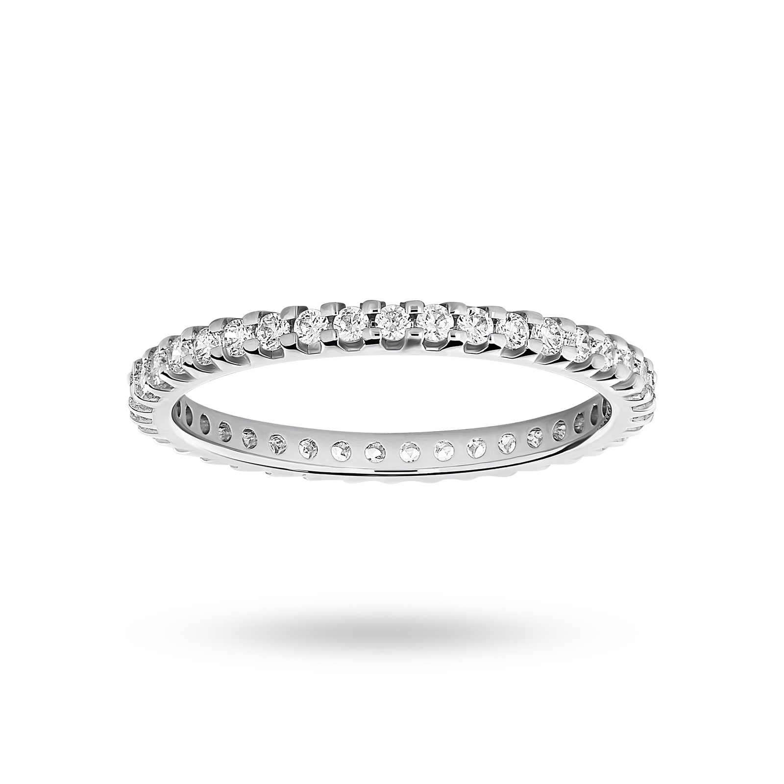 Platinum 0.50 Carat Brilliant Cut Claw Set Full Eternity Ring