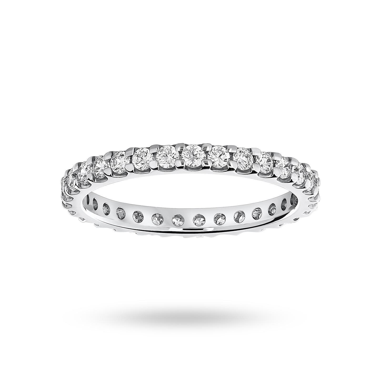 Platinum 0.75cttw Diamond Set Full Eternity Ring