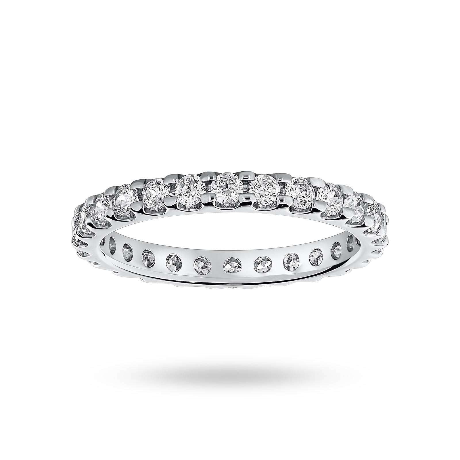 18ct White Gold 1.00cttw Diamond Full Eternity Ring